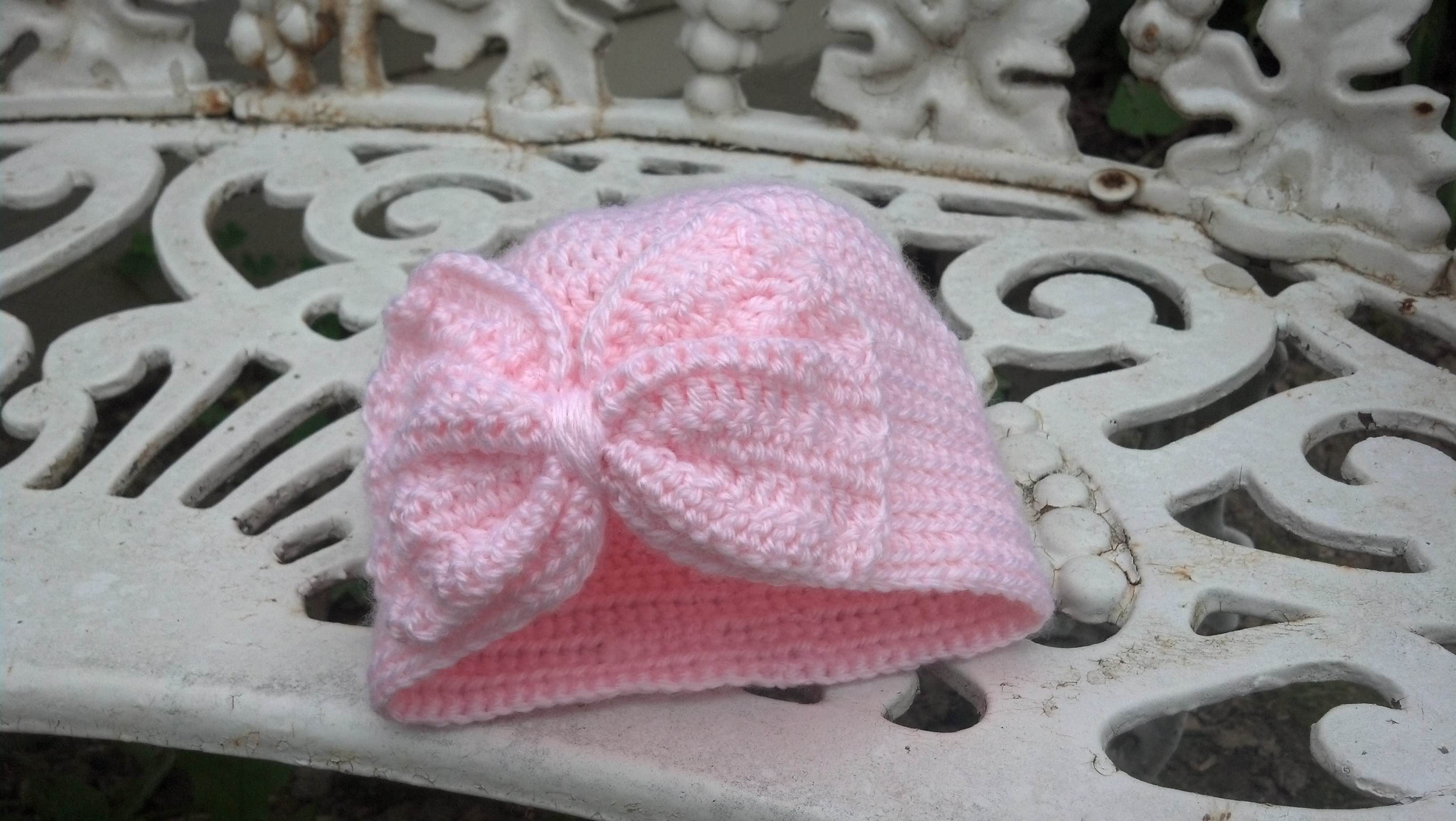 Free Crochet Pattern Baby Turban : Baby Turban Hat with a Bow Mad Hooker Crochet!Mad Hooker ...