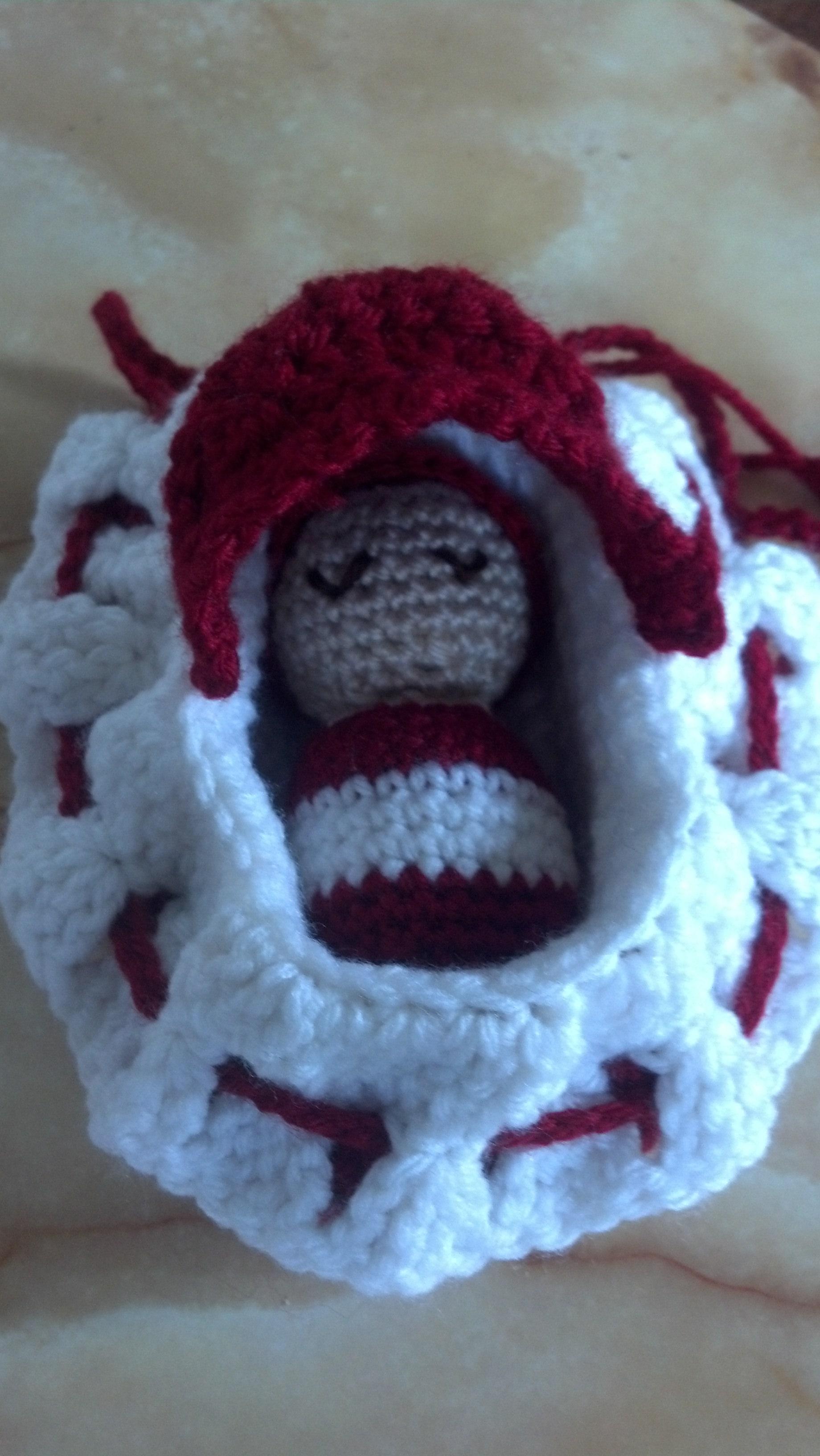 Pumpkin and Sunshine fka BeadedSocks: Crocheted Bassinet / Cradle ... | 3264x1840
