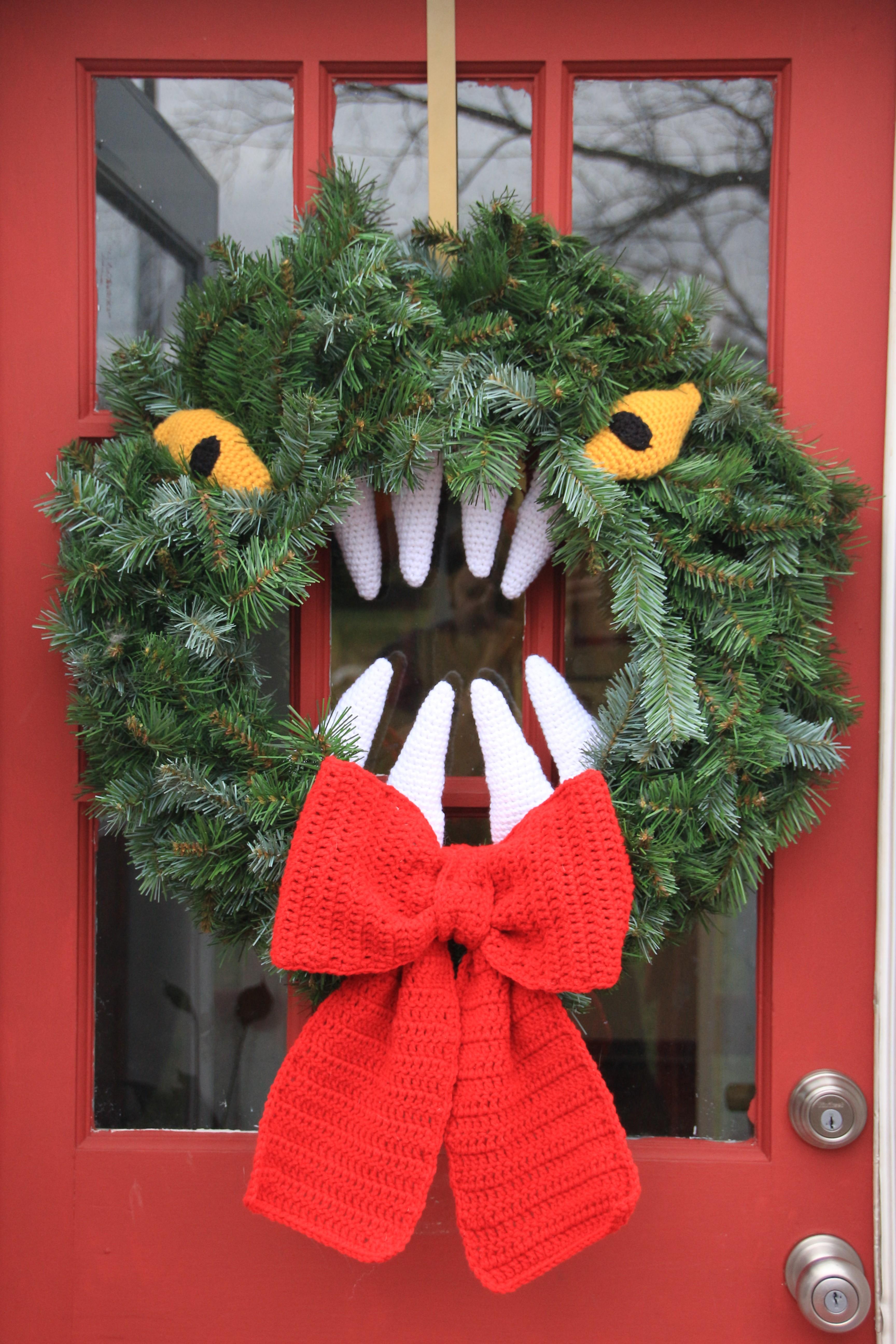 Monster Wreath | Mad Hooker Crochet!Mad Hooker Crochet!